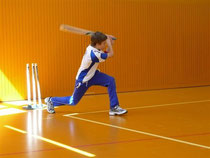 Practicing the sweep shot during indoor sessions