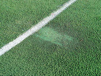 Damage to the NottsSport pitch
