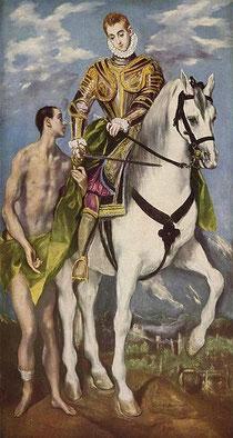 Gemälde El Greco: Wikipedia Heiliger Martin und Bettler