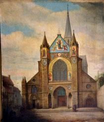 Ansicht der Kirche um 1850