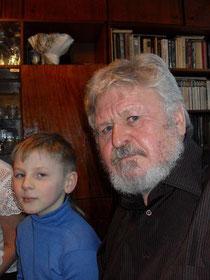 Телегин Владимир Павлович с  внуком Мишей