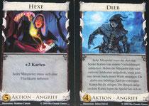 Angriffskarten: Hexe & Dieb