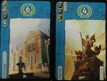 Gebäudekarten: Rathaus & Statue