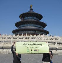 Borrelioseprotest in Peking, China