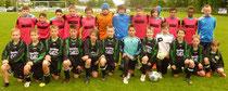 Die D-Junioren des TSV Lehnerz (stehend) behielten mit 3:1 die Oberhand