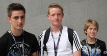 Niklas Hog, Luis Bös und Lucas Wehner (alle JFV Bad Soden-Salmünster) spielten eine starke Partie