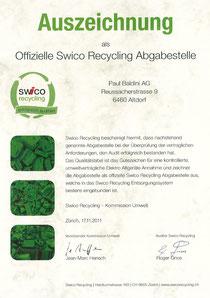offizielle Swico Sammelstelle