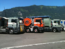Baldini Lastwagen am Truckerfestival in Interlaken 2011