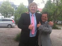 Felix Hnat (VGÖ) mit seinem Anwalt