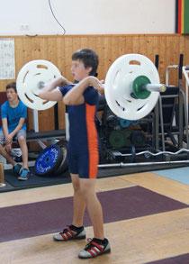 Der 12jährige Manuel Vaccaro mit 32 kg