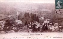 Bourguignon-sous-Montbavin en 1908 vue d'ensemble avec le chateau