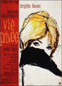 """Affiche du film de Louis Malle """"vie privée"""" sorti en 1962"""