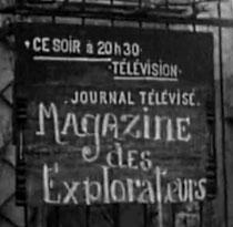 Annonce du programme de la soirée au télé club de Nogentel (Picardie) en 1952 (document INA)