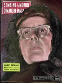 Marie Besnard sur la couverture d'un magazine