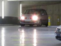 Rampe accès étage parking