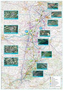 cartographie du projet du canal seine nord - source VNF