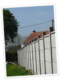 clôture 4 plaques unies