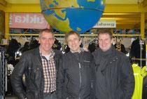 Alf und Marc mit Herbert Schwarz