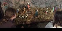 A l'initiative d'un groupe d'enfants et de parents : la crèche à l'église de Saint Maurice d'Ibie