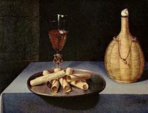 Lubin Baugin, Le Dessert de Gaufrettes, huile sur bois, 41 x 52 cm, 1610, Musée du Louvre, Paris.
