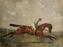 Peinture de René Pierre Charles Princeteau (XIXème).