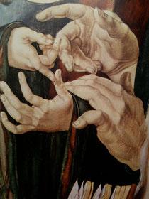 Détail de Jésus parmi les docteurs, 1508.