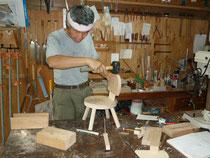 子供椅子製作中