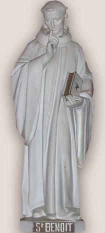 Statue de Saint Benoit Eglise de Saint Romphaire Manche