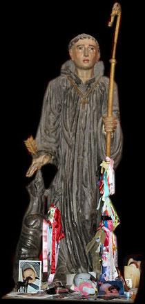 Statue de Saint Gilles Eglise de Saint Gilles Manche