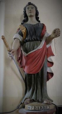 Statue de Sainte Barbe .  Eglise de Bricqueville la Blouette   Manche