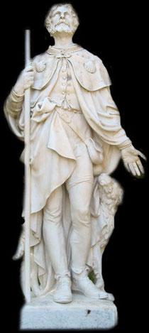 Statue de Saint Roch Lourdes Avril 2007