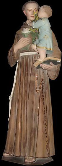Statue de Saint Antoine de Padoue. Cathédrale de Coutances . Manche 50.