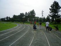 グラウンド整備の風景