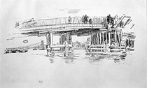 Old Battersea Bridge, Artist: James Abbott McNeill Whistler