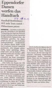 Freie Presse Flöha vom 15.10.2013