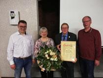 Daniel Buck (1. Vors.), Gunda Buck, Herbert Buck (Ehrenvorsitzender), Hans-Werner Roloff (2. Vors)