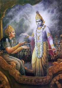 Krsna instructs Arjuna about the disciplic succession