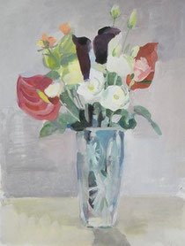 今日のモチーフはお花屋さんのきれいな花