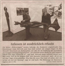Ausstellung im Kunstraum Bad Honnef, 2007