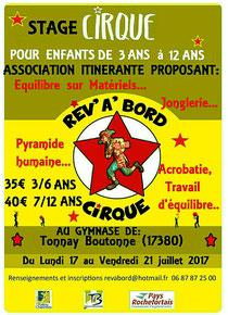 Stage Juillet 2017
