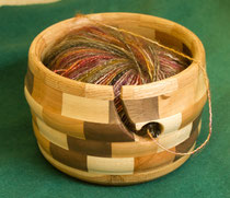 Hand made yarn bowl