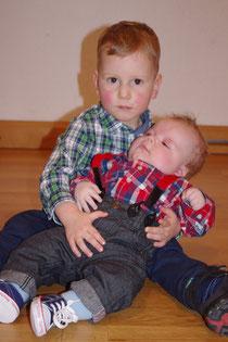 Elijah und Richard - die beiden Täuflinge