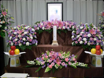 (例)自宅葬 34万プラン 祭壇上生花