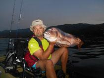 Pêche en kayak en méditerranée