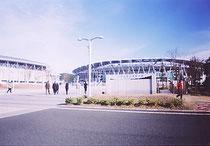 静岡アリーナのエコパスタジアムの外観