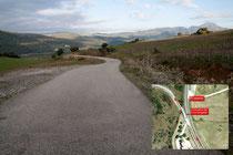 Carretera de acceso al Río