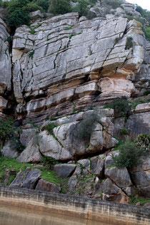 Pared rocosa en el Canuto de Utrera