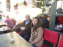 Dietmar mit seiner Tochter in Schwabing