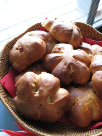 クランベリーとくるみのパン