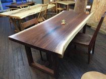ブラックウォールナット 一枚板 ダイニングテーブル
